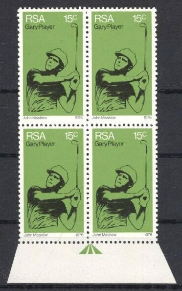 Stamps with Golf from South Africa (image for product #034273)