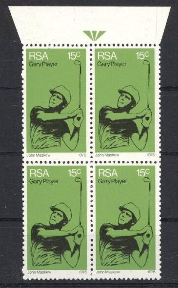 Stamps with Golf from South Africa (image for product #034274)