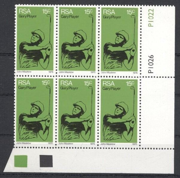 Stamps with Golf from South Africa (image for product #034275)