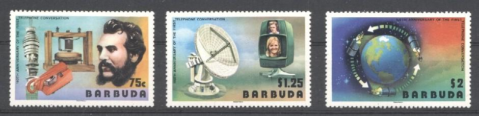 Stamps with Space, Television, Bell (Graham) from Barbuda (image for product #034373)