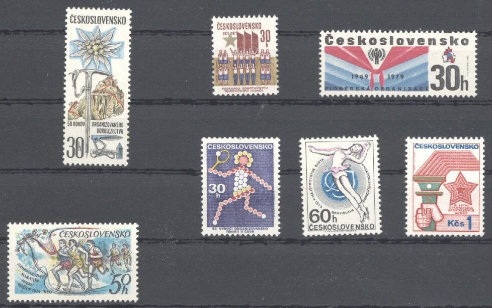 Stamps with Bird, Child Year of, Tennis, Miscellaneous from Czechoslovakia (image for product #034546)
