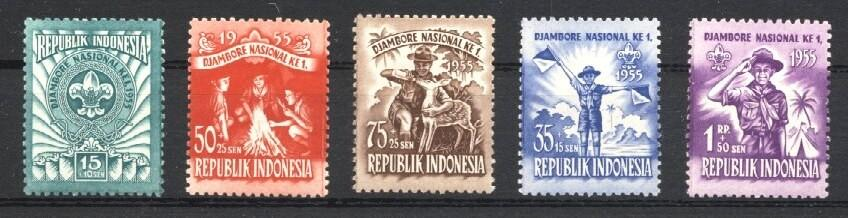 Stamps with Scouting from Indonesia (image for product #034658)