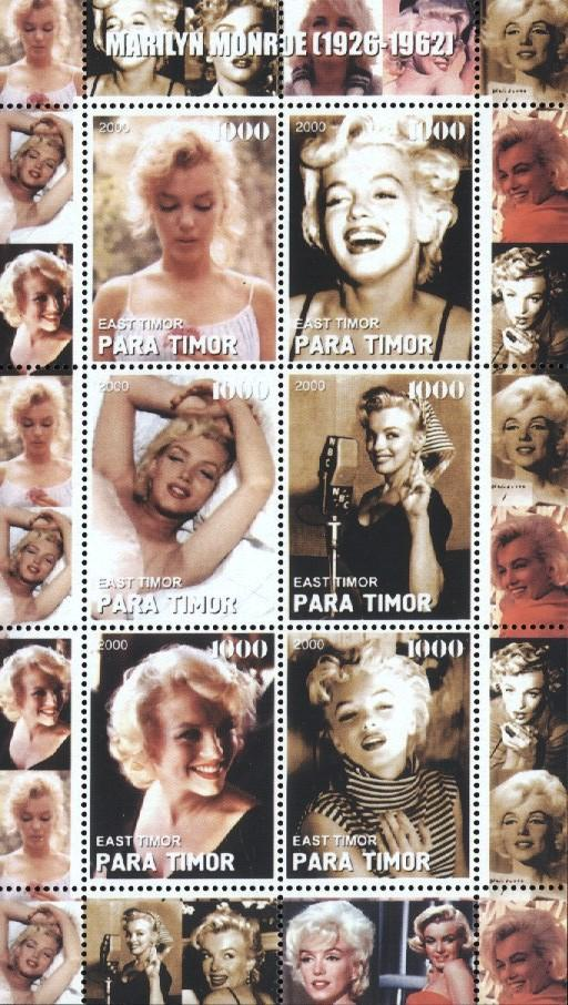 Stamps with Marilyn Monroe from  (image for product #034857)