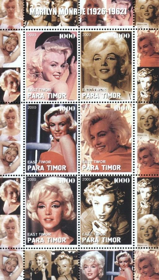 Stamps with Marilyn Monroe from  (image for product #034858)