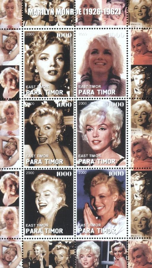 Stamps with Marilyn Monroe from  (image for product #034859)