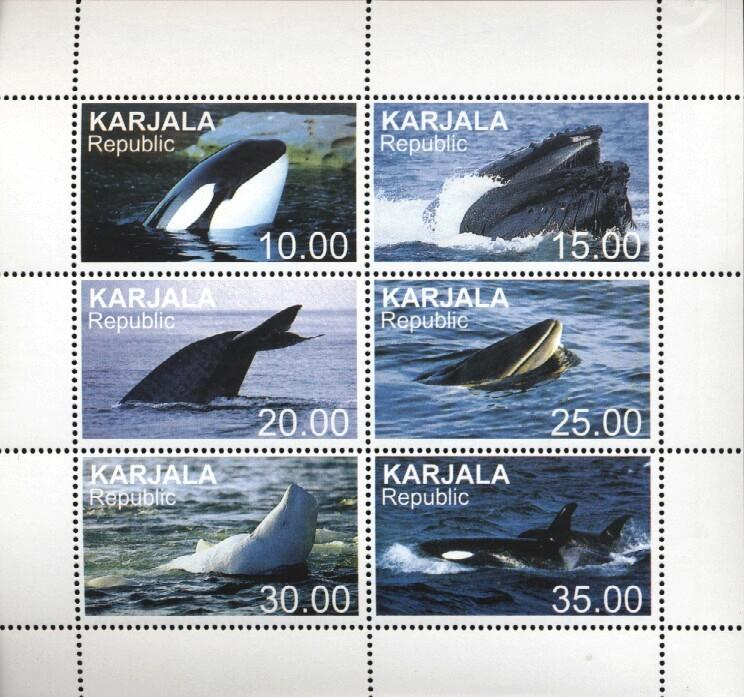 Stamps with Whale from  (image for product #034910)