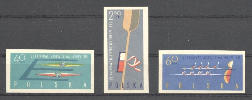 Stamps with Rowing from Poland (image for product #035135)