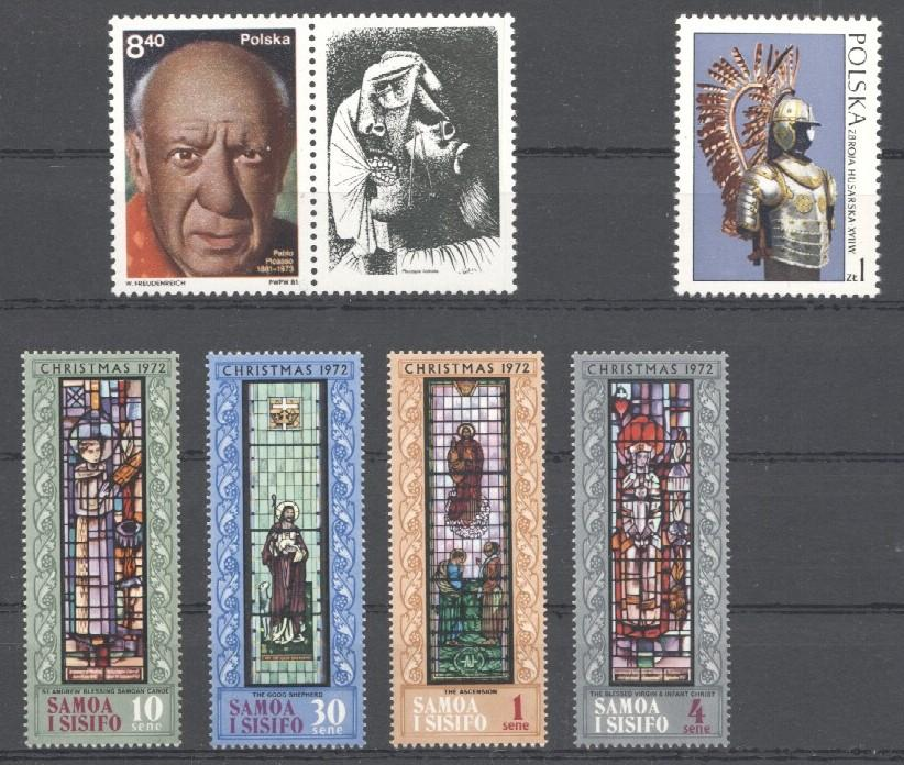 Stamps with Art, Window, Picasso from World (image for product #035145)