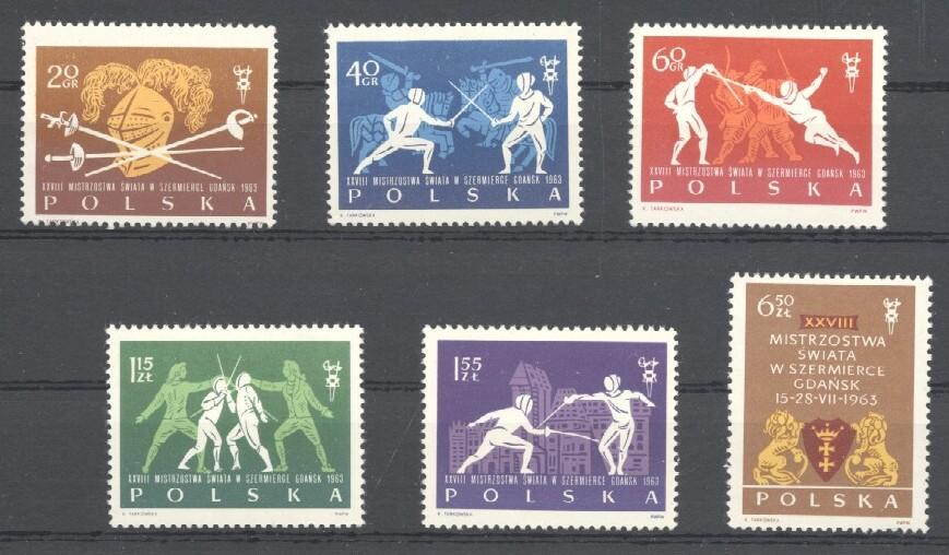 Stamps with Fencing from Poland (image for product #035155)