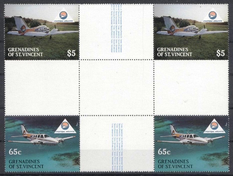 Stamps with Aircraft from St. Vincent (image for product #035170)