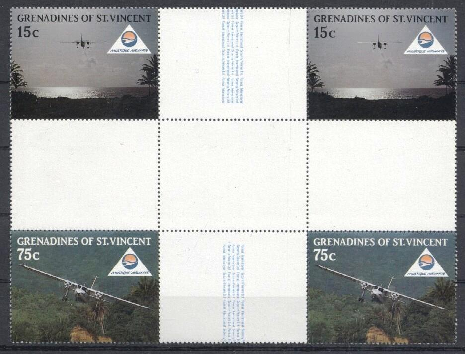 Stamps with Aircraft from St. Vincent (image for product #035171)
