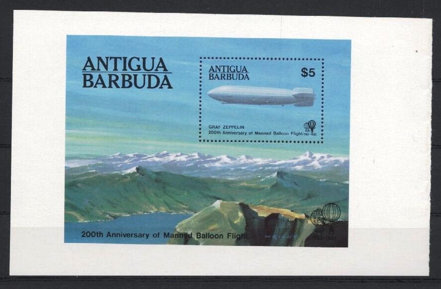 Stamps with Zeppelin from Antigua & Barbuda (image for product #035174)