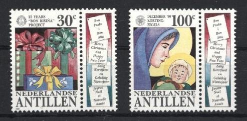 Stamps with Christmas from Netherlands Antilles (image for product #035343)