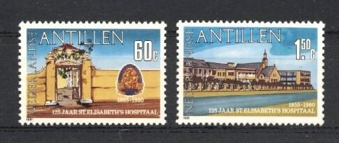 Stamps with Hospital from Netherlands Antilles (image for product #035353)