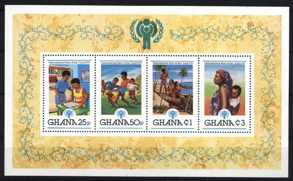 Stamps with Soccer, Child Year of from Ghana (image for product #035403)