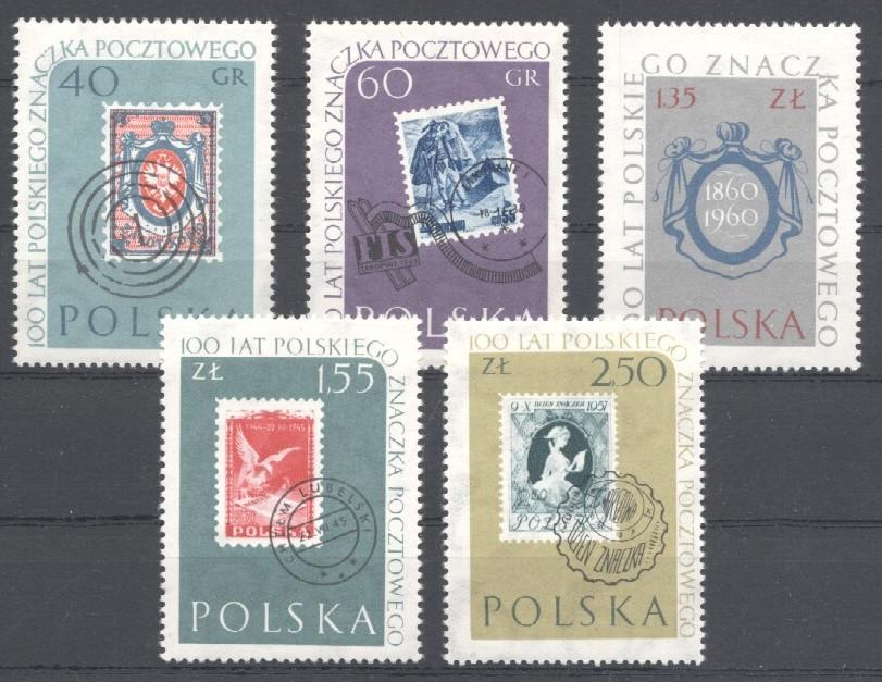 Stamps with Bird, Stamp on Stamp from Poland (image for product #035425)