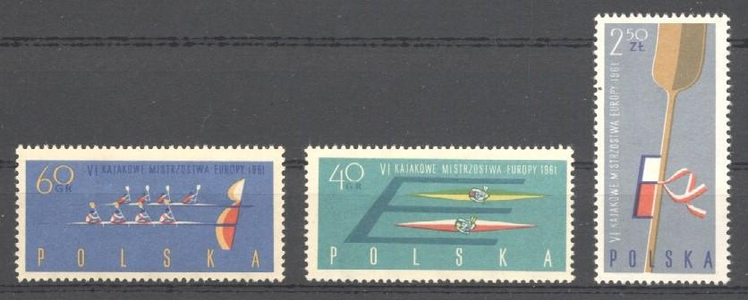 Stamps with Rowing from Poland (image for product #035426)