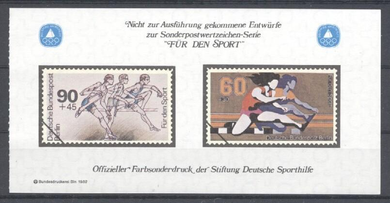 Stamps with Olympic Games, Hurdles from Germany (Berlin) (image for product #035453)
