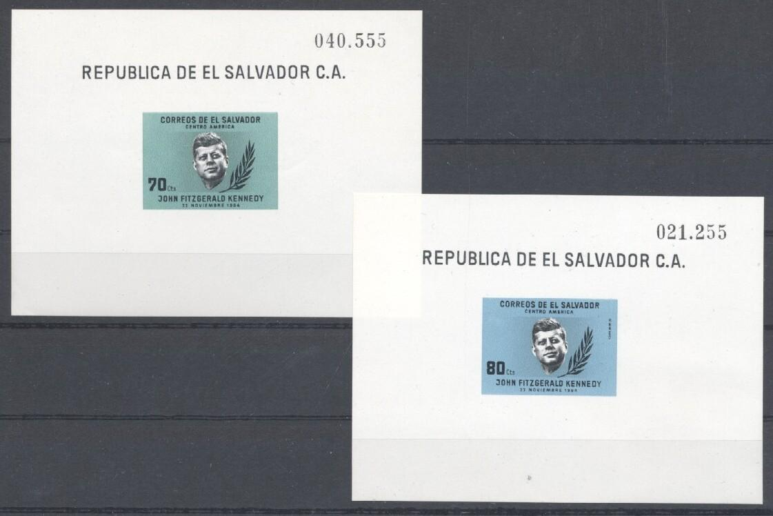 Stamps with Kennedy from El Salvador (image for product #035532)
