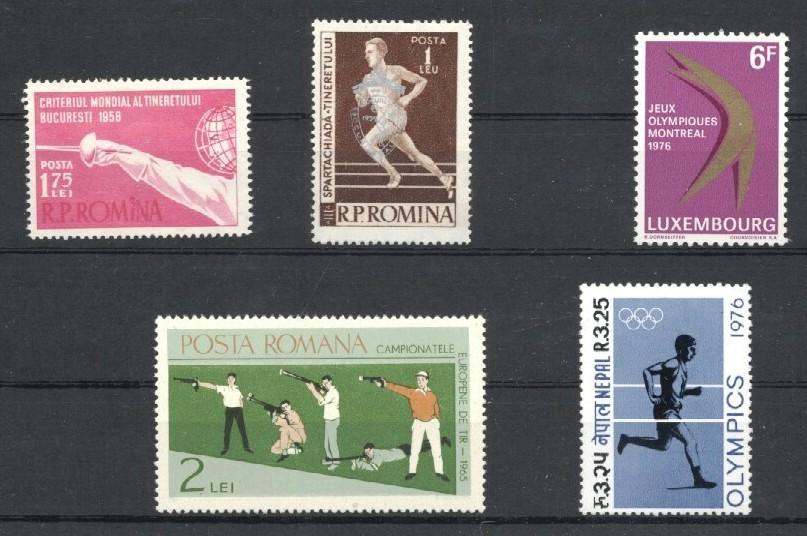 Stamps with Fencing from World (image for product #035605)