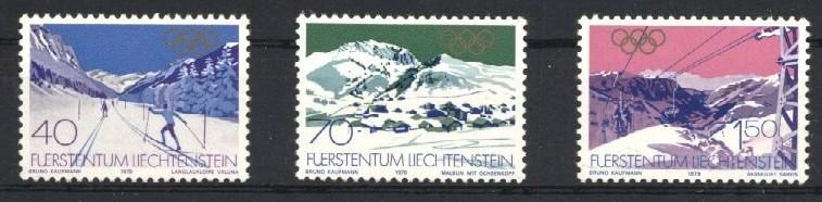 Stamps with Olympic Games from Liechtenstein (image for product #035620)