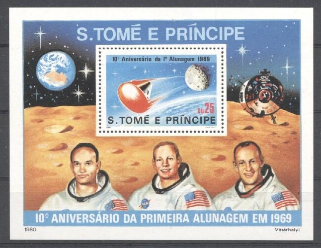 Stamps with Space from Sao Tome e Principe (image for product #035723)