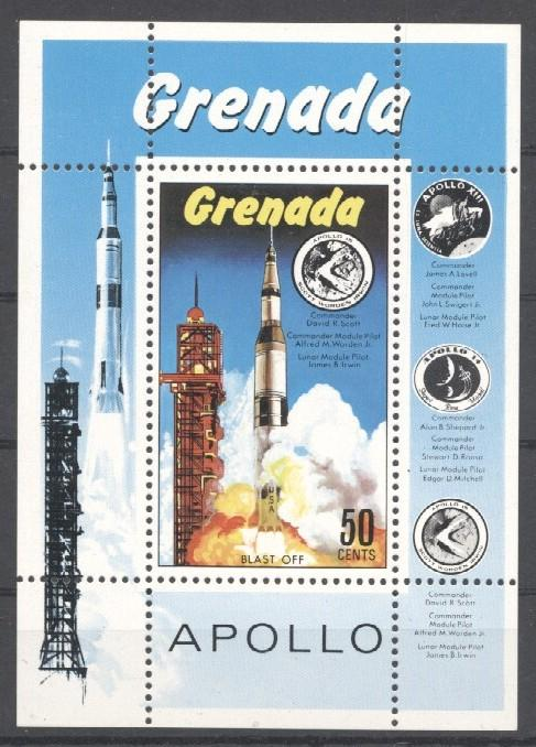 Stamps with Space from Grenada (image for product #035724)