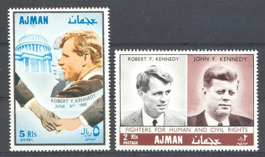 Stamps with Kennedy from Yemen Kingdom (image for product #035860)