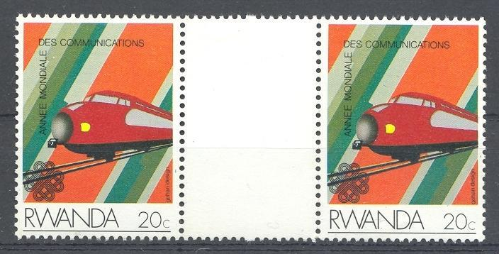 Stamps with Train / Railway from Rwanda (image for product #035866)