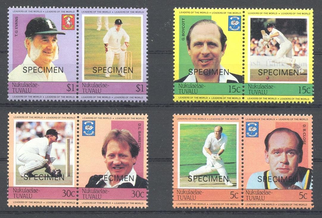 Stamps with Cricket from Tuvalu (image for product #035876)