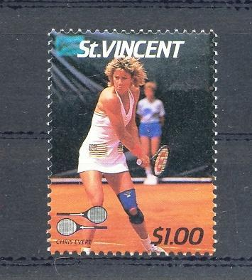 Stamps with Tennis from St. Vincent (image for product #035895)