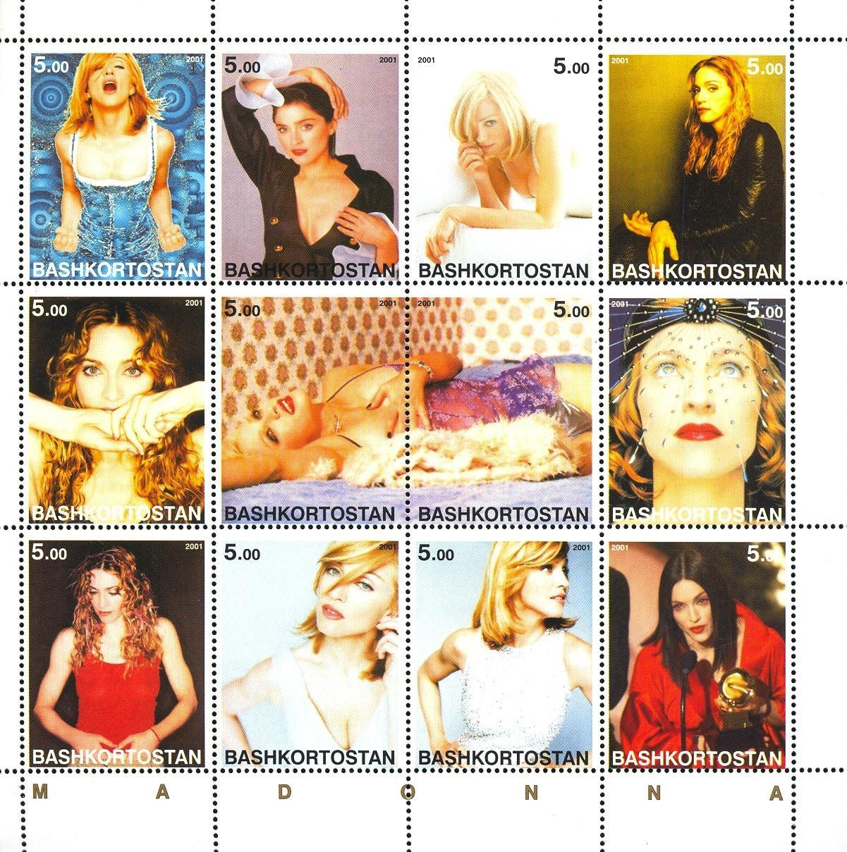 Stamps with Madonna, Popstars from  (image for product #035899)