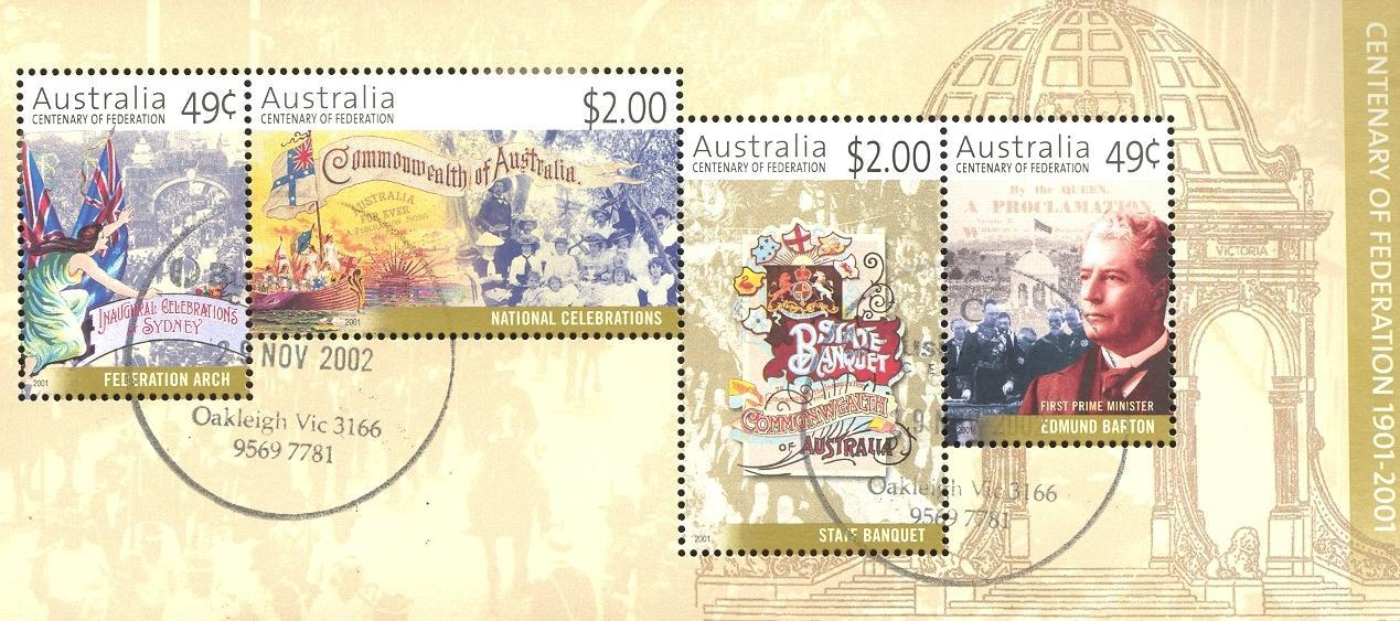 Stamps with Flag, Anniversary from Australia (image for product #035907)