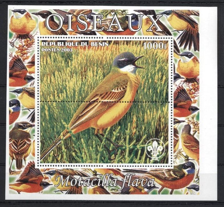 Stamps with Bird, Scouting from Benin (non official) (image for product #035944)