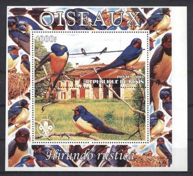 Stamps with Bird, Scouting from Benin (non official) (image for product #035948)