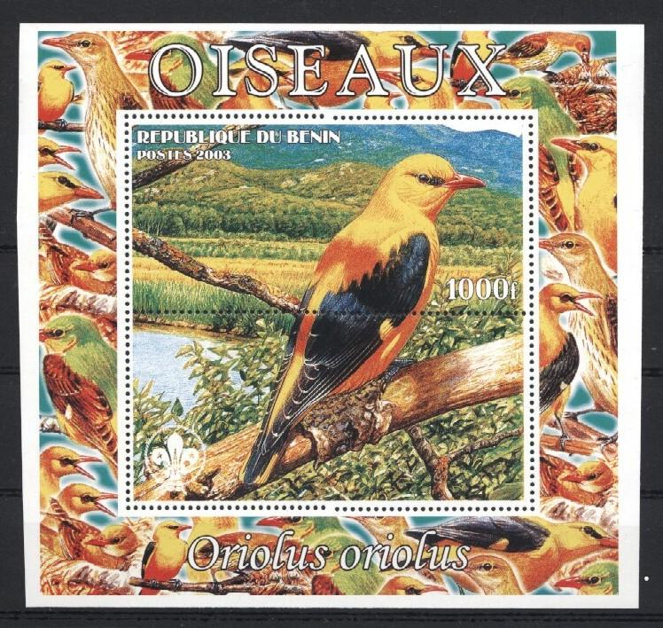 Stamps with Bird, Scouting from Benin (non official) (image for product #035949)