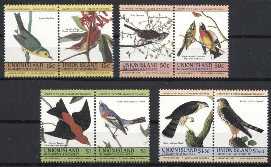 Stamps with Bird from Union Island (image for product #036004)
