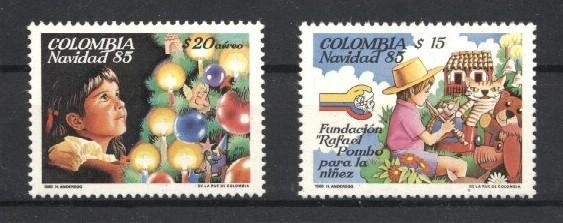 Stamps with Christmas from Colombia (image for product #036008)