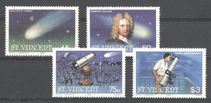 Stamps with Space, Halley Comet from St. Vincent (image for product #036013)