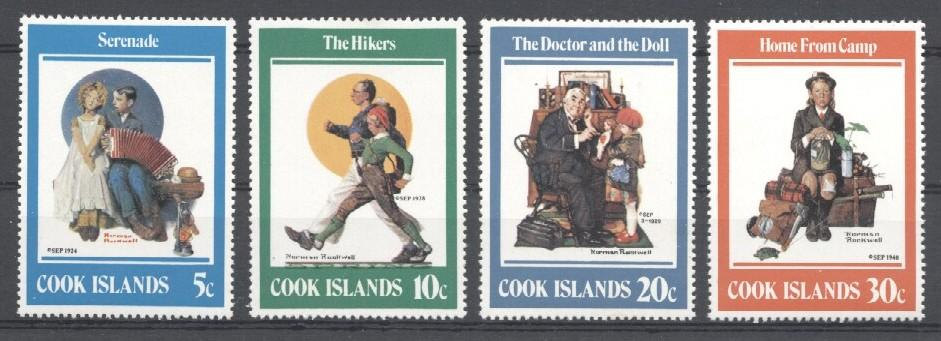 Stamps with Music Instruments, Rockwell (Norman) from Cook Islands (image for product #036015)