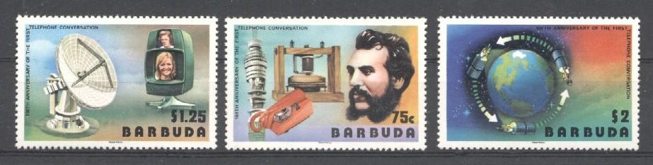 Stamps with Space, Telephone, Television, Bell (Graham) from Barbuda (image for product #036016)