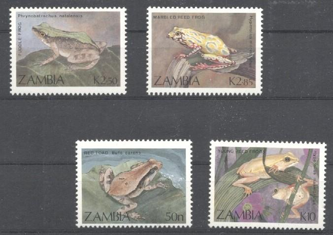 Stamps with Frog from Zambia (image for product #036019)