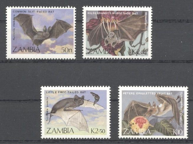 Stamps with Bat from Zambia (image for product #036022)