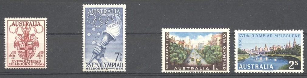 Stamps with Olympic Games from Australia (image for product #036023)
