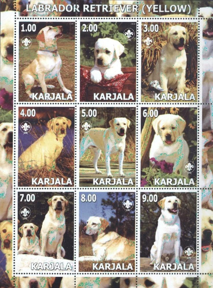 Stamps with Dogs, Scouting from  (image for product #036030)