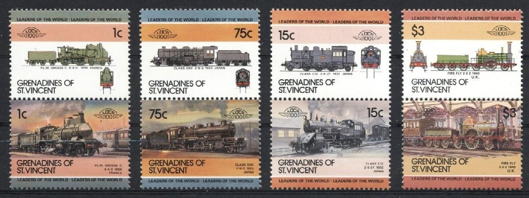 Stamps with Train / Railway from St. Vincent (image for product #036045)