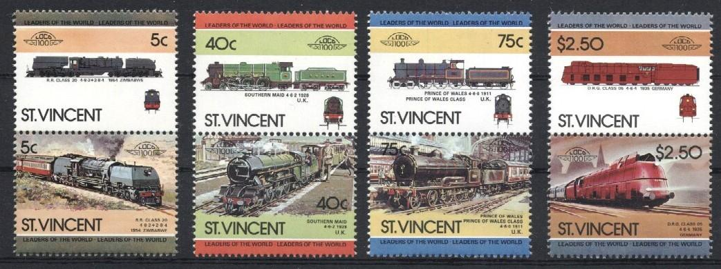 Stamps with Train / Railway from St. Vincent (image for product #036046)