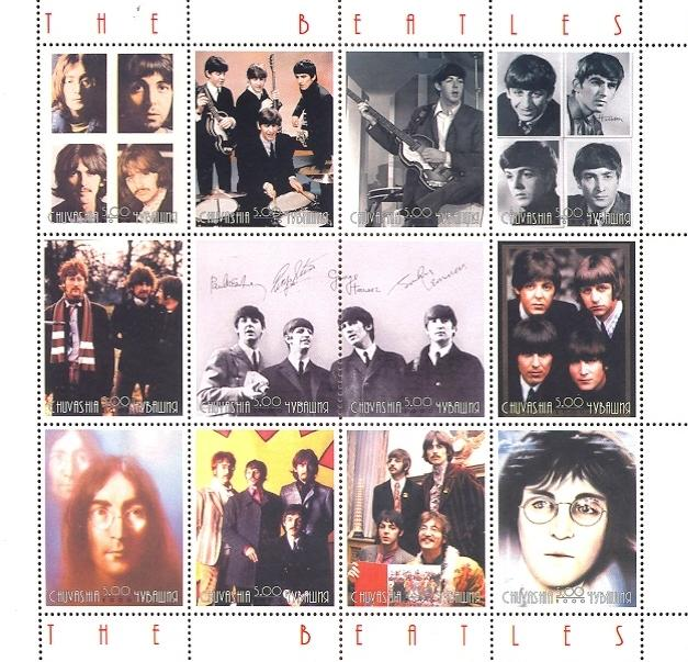 Stamps with Popstars, Beatles from  (image for product #036050)