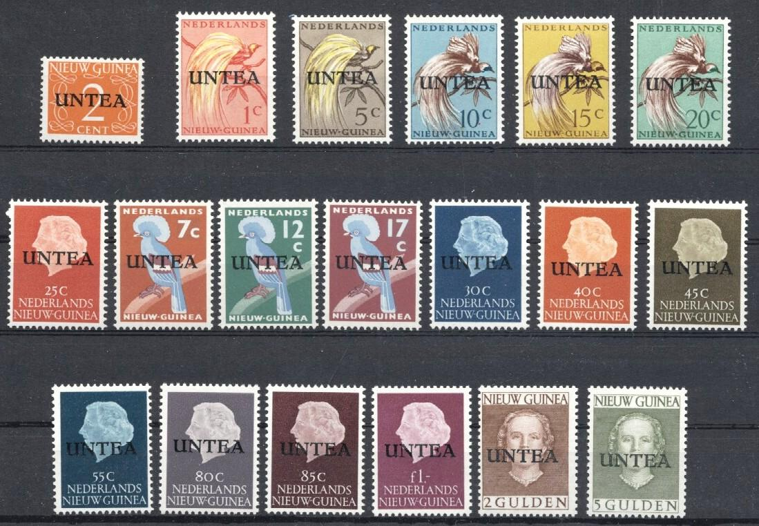 Stamps with Bird, United Nations, Definitive Issue from Dutch New Guinea (image for product #036062)