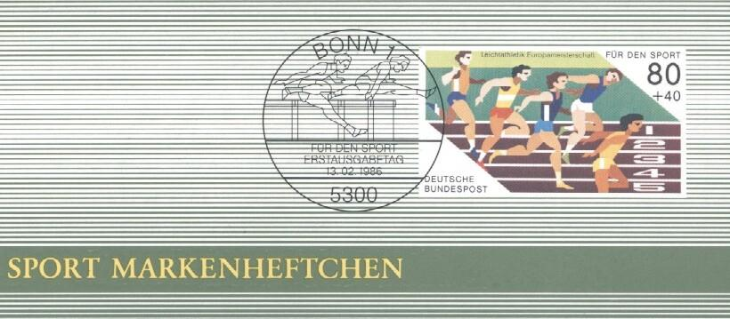 Stamps with Olympic Games, Booklet from Germany (image for product #036091)